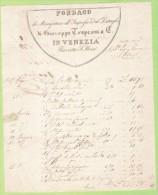 1847-FATTURA  PUBBLICITARIA-VENEZIA-DI GIUSEPPE TROPEANI E C.-FONDACO DI MANIFATTURE ALL'INGROSSO ED AL DETTAGLIO - Italia