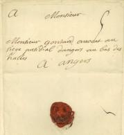 Bernard Du Ronceray ANGERS 1740 Paris Gontard Chenede Grande Chambre LAC - Marcophilie (Lettres)