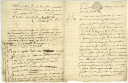 Contigné Angers Brichet Jouanneaux Sireul La Touche 1773 Sous Louis XV - Documenti Storici
