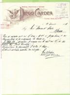 1914--FATTURA  PUBBLICITARIA-TORRE ANNUNZIATA-DIEGO CARDEA-PASTIFICIO A VAPORE - Italia
