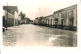 CARTE PHOTO INONDATION EL COECITTO LEON JUNIO 23 DE 1926 ESPAGNE MEXIQUE ? QUI PEUT DIRE - Espagne