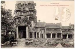 Cambodge, Angkor-Wat - Porte Principale De L'enceinte Extérieure - Cambodge