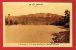 MEYRONNE ( Lot ) Le Pont Suspendu Et Le Rocher Ste-Marie - Frankreich