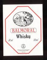 Etiquette De  Whisky  -  Balmoral -   Ecosse - Whisky