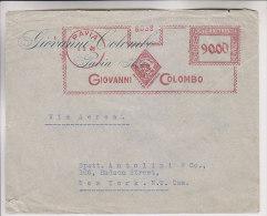 Rossa Annullo Meccanico Pavia Giovanni Colombo L. 90 4.5.1948 Per New York - 6. 1946-.. Repubblica