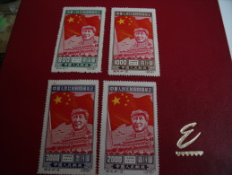 Timbres  De Collection  Chine R P  Année;   1950  Y.T.  N° 849 / 52 **  Sans Gomme Neuf** - Neufs