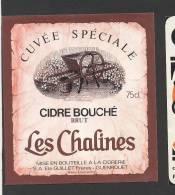 Etiquette De Cidre  Brut  -  Cuvée Spéciale Les Chalines - Etichette
