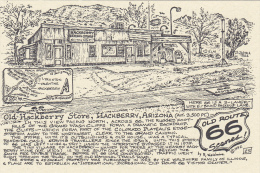 Map : Old Route 66 Series Postcard , 50-70s : Old Hackberry Store , Hackberry  , Arizona - Route '66'