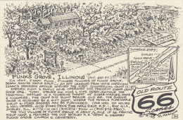Map : Old Route 66 Series Postcard , 50-70s :  Funk's Grove , Illinois - Route '66'
