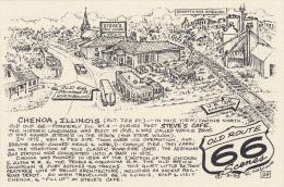 Map : Old Route 66 Series Postcard , 50-70s :  Chenoa , Illinois - Route '66'