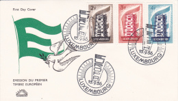 LOT 22 LUXEMBOURG FDC N° 514-515-516 OBLITERE - FDC