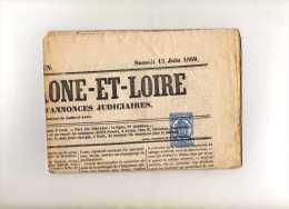 Journal L´écho De Saone Et Loire Complet - Timbre Yvt N° J8 Oblitéré Typo - Kranten