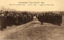 """BELGIQUE - BRABANT WALLON - GREZ-DOICEAU - BIEZ - Préventorium """"Léon Poriniot"""". Pose De La Première Pierre Le 22/01/1933 - Grez-Doiceau"""
