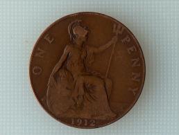 Grande-Bretagne 1 Penny 1912 - 1902-1971 : Monnaies Post-Victoriennes