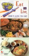 TELECARTES   SINGAPOUR  10$  Nourriture Food  (lot De 3) - Singapore