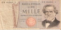 BILLETE DE ITALIA DE 1000 LIRAS DEL 10-1-1977 DE VERDI  (BANKNOTE) - [ 2] 1946-… : République
