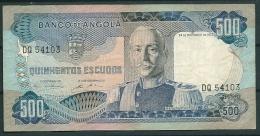 ANGOLA 500 ESCUDOS 1972 P102 -CA - Angola