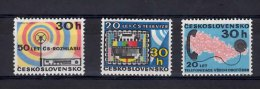 1973 Telecommunications Anniversaries Complete Set Of 3 Values Never-Hinged Mint
