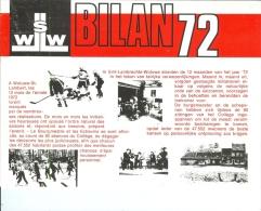 WOLUWE-SAINT-LAMBERT (Brochure ´BILAN 1972´ édité Par L´Administration) Avec Entre Autres Une Photo D´Eddy MERCKX - 1973 - Books, Magazines, Comics