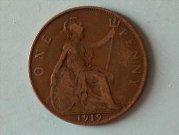 Grande-Bretagne 1 Penny 1919 - 1902-1971 : Monnaies Post-Victoriennes