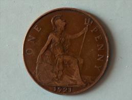 Grande-Bretagne 1 Penny 1921 - 1902-1971 : Monnaies Post-Victoriennes