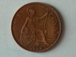Grande-Bretagne 1 Penny 1936 - 1902-1971 : Monnaies Post-Victoriennes