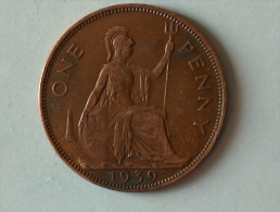Grande-Bretagne 1 Penny 1939 - 1902-1971 : Monnaies Post-Victoriennes