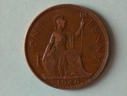 Grande-Bretagne 1 Penny 1940 - 1902-1971 : Monnaies Post-Victoriennes