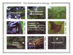 rdcF06 R.D. Congo 2005 Bird Deer Gorilla s/s