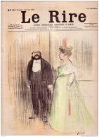 REVUE LE RIRE - FEVRIER 1899 - N° 222 - LES CONTEMPORAINS N° IV  - COQUELIN CADET - ILLUSTREE PAR FORAIN, CAPPIELLO - Livres, BD, Revues