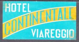 ITALY : HOTEL CONTINENTAL VIAREGGIOI,  Hotel Label, C.1954 - Hotel Labels