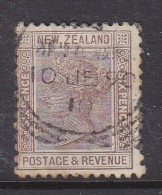 NEW ZEALAND:  1892 6d, Squared C.d.s. Used In 1910, SG No 201A, Die IIQueen Victoria Stamp - Used Stamps