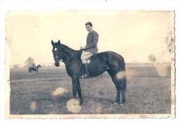 Cavalier Cheval Horse Equitation Photo 18,50 X8 Cm - Sport