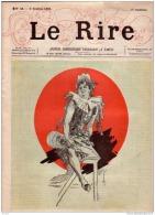 REVUE LE RIRE -OCTOBRE 1895 - N° 48 - FANTAISIE - VIE DE CHATEAU - ILLUSTREE PAR CHERET , LAMI - Livres, BD, Revues