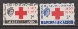 Falkland Islands 1963 Red Cross Centenery Set 2 MNH - Falkland Islands