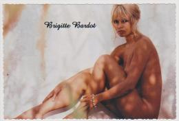 ORIGINAL MODERN POSTCARD BRIGITTE BARDOT RARE Nude Nue - Entertainers