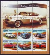 AF301 CUBA 2002 OLD CAR SPECIAL FORMAT MNH CADILLAC CHEVR - Blocks & Sheetlets