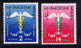 1960  King Edward Medica Coolege  SG 118-9  MNH - Pakistan