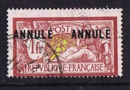 C33  Merson 1 Fr ANNULÉ Deux Fois Oblitéré