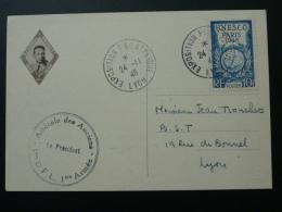 Carte Expo Philatélique De Lyon 1946 Hommage à Diego Brosset 1ere Division Française Libre - France