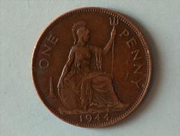 Grande-Bretagne 1 Penny 1944 - 1902-1971 : Monnaies Post-Victoriennes