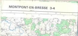 Carte IGN 1/50000 - Montpont En Bresse 3-4 - Edition De 1972 - Topographical Maps