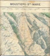 Carte IGN 1/50000 _ Moustiers Ste Marie - Edition De 1957 - Topographical Maps