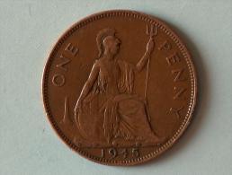 Grande-Bretagne 1 Penny 1945 - 1902-1971 : Monnaies Post-Victoriennes
