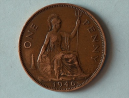 Grande-Bretagne 1 Penny 1946 - 1902-1971 : Monnaies Post-Victoriennes