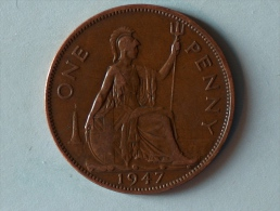 Grande-Bretagne 1 Penny 1947 - 1902-1971 : Monnaies Post-Victoriennes