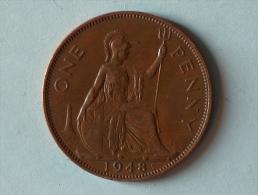 Grande-Bretagne 1 Penny 1948 - 1902-1971 : Monnaies Post-Victoriennes