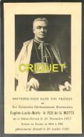Image Religieuse, Souvenir Pour Eugène Louis Marie Le Fer De La Motte, Evêque Nantes 1914-35 - Devotion Images