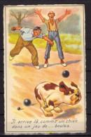 Carte Postale Fantaisie - Pétanque - Chien - Ilustradores & Fotógrafos