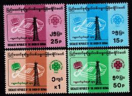 BURMA STAMP. 1983. SC#285-288. MNH. WORLD COMMUNICATION YEAR - Birmania (...-1947)